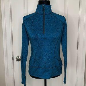 Lululemon Blue and Black Speckled Zip Up